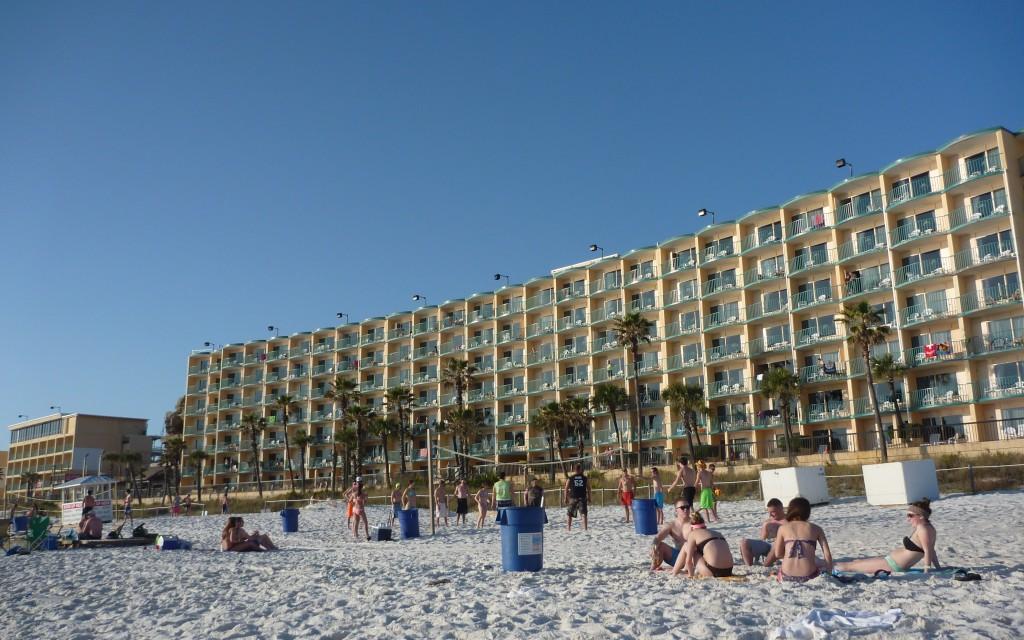 A Panama City Beach, les hôtels donnent sur la plage. Tout comme la plus part des boîtes de nuits.