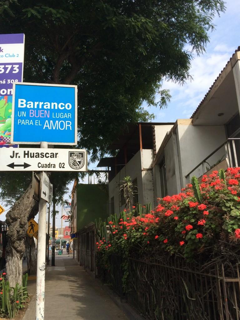 Barranco, quartier de l'amour, et ce n'est pas moi qu'il le dit