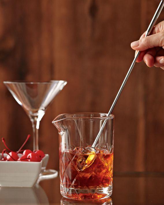 stirring cocktails